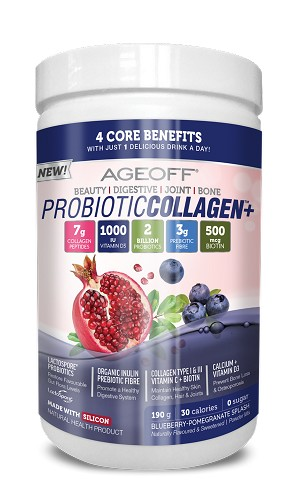 AGEOFF® ProbioticCollagen+°, Blueberry-Pomegranate