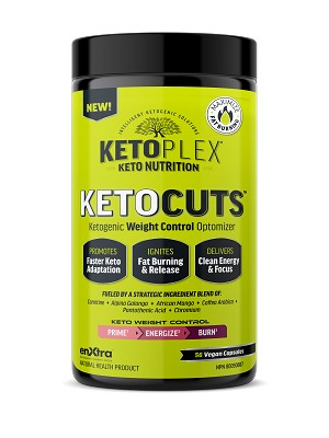 KetoPlex® KetoCuts™ Ketogenic Fat Metabolism Optimizer | 56 Vagan capsules